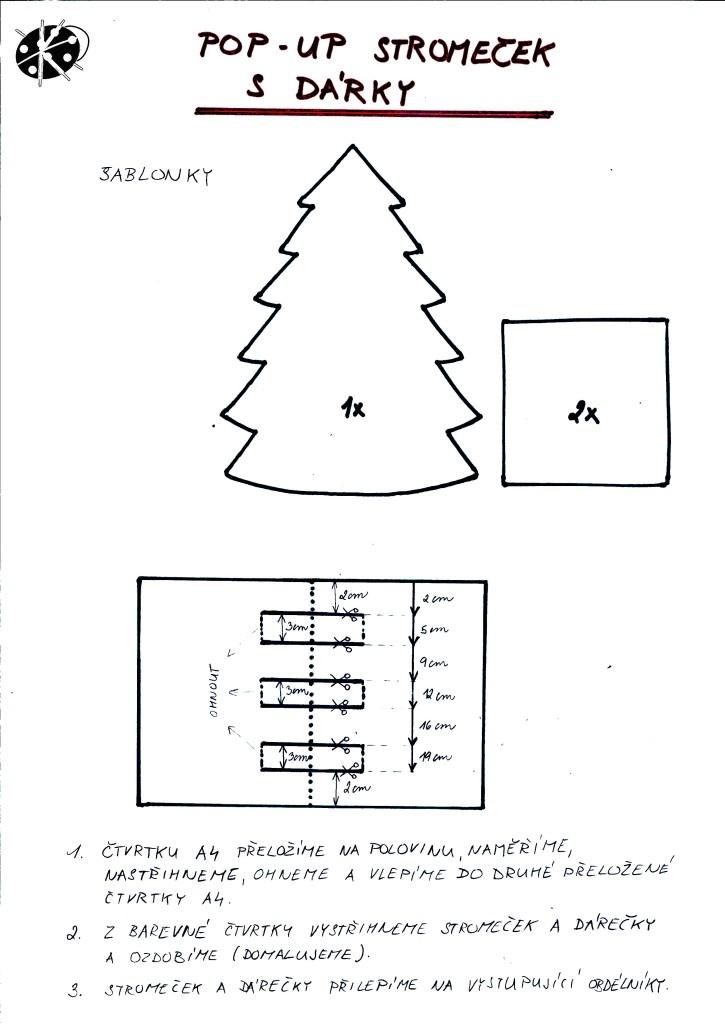 Návod na POP UP vánoční přáníčko se stromečkem